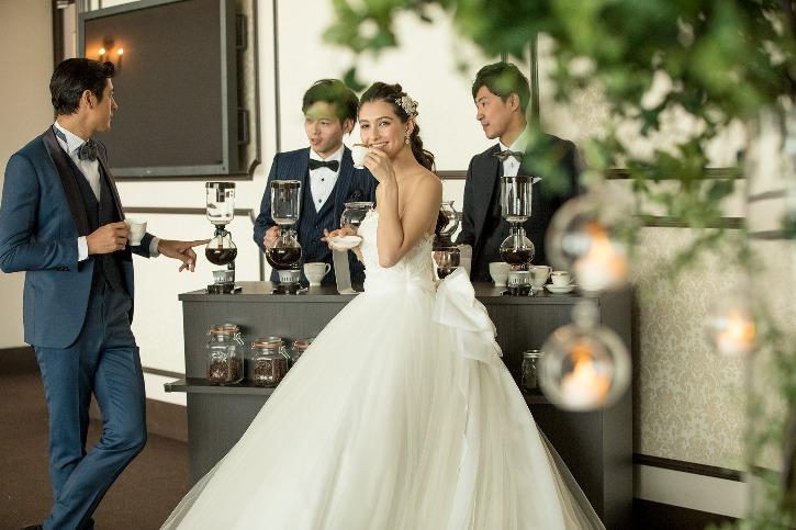 福島市 結婚式場 クーラクーリアンテ(旧サンパレス福島)サイフォンコーヒー