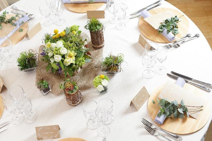 福島市 結婚式場 クーラクーリアンテ(旧サンパレス福島)テーブル
