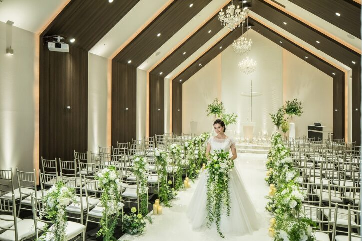 福島市 結婚式場 クーラクーリアンテ(旧サンパレス福島)キリスト教式