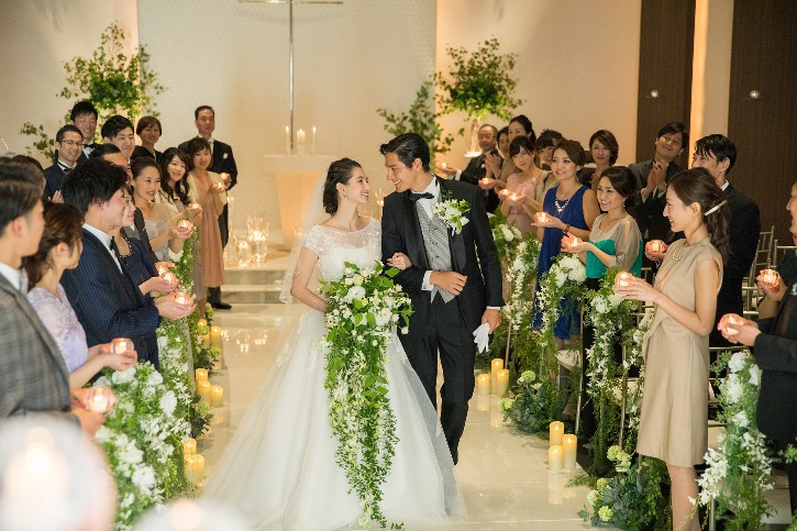 福島市 結婚式場 クーラクーリアンテ(旧サンパレス福島)キャンドルロード